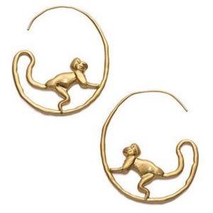 TORY BURCH • Call of the Wild Monkey Hoop Earrings